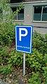 Hommesplein ambulance parking sign, Winschoten (2019) 01.jpg