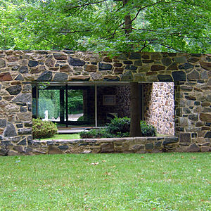 Hooper House (Baltimore County, Maryland) - Image: Hoopercourtyard