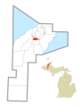 Houghton, MI county location map2.png