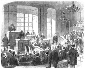 House of Lords (Austria) - House of Lords session at the Palais Niederösterreich, 1868
