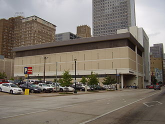 Houston Chronicle - Houston Chronicle headquarters in Downtown Houston before its demolition.