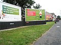 Huge advertising boards approaching the Green Lane bus stop - geograph.org.uk - 854476.jpg