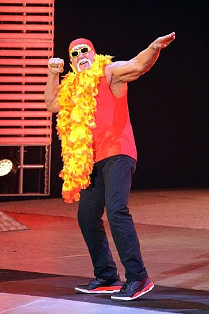 Music in professional wrestling - The most common use of music in professional wrestling is to play while a wrestler, tag team, or stable makes an appearance be it in the ring, on stage, or on the screen. An example seen here with Hulk Hogan making his entrance on a Raw show.