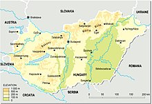 Description de l'image Hungary_topographic_map.jpg.