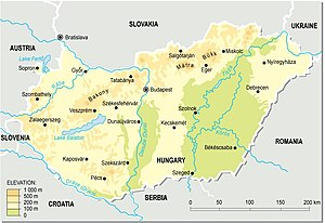 Outline of Hungary - An enlargeable topographic map of Hungary