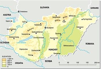 Auto Karta Mađarske 2010 Karta