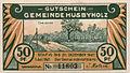 Husbyholz, Notgeld, 1921, 50 Pfennig, Chaussee, Vorderseite.jpg