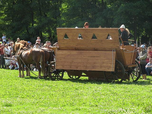 Modern reconstruction of a Hussite war wagon