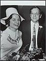 Huwelijk van de studentenpastor Huub Oosterhuis met mej. M. Melief in de kapel v, Bestanddeelnr 119-0639.jpg