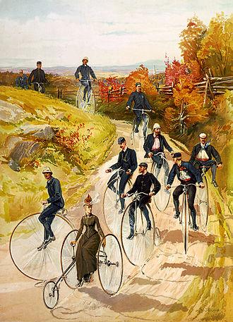 Henry Sandham - Image: Hy Sandham, Bicycling, 1887