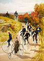 Hy Sandham, Bicycling, 1887.jpg