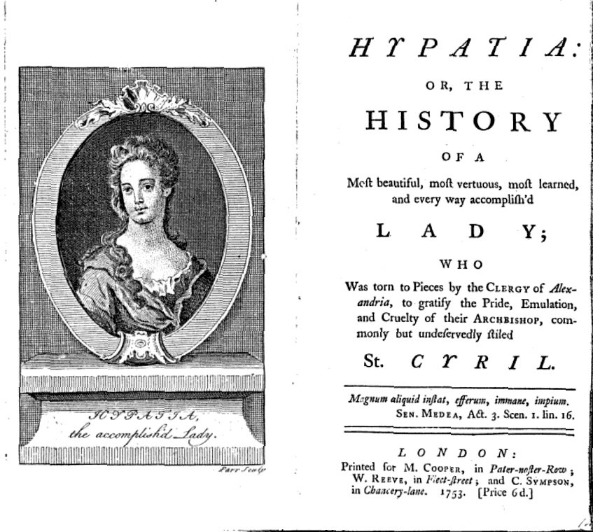 Hypatia - John Toland 1720