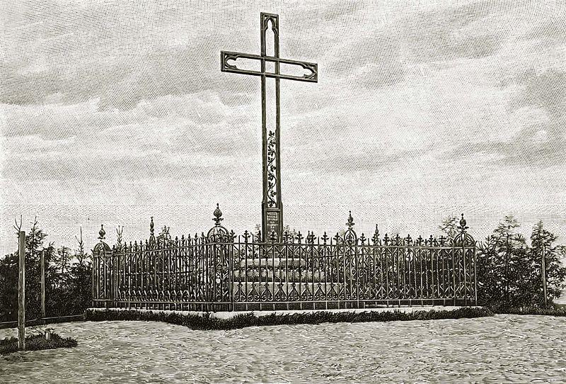 Det andre Adalbert-korset (til 1945) i Tenkitten i Samland i Ostpreußen