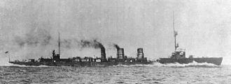 Japanese cruiser Tenryū - Image: IJN Tenryu in 1919 under trials