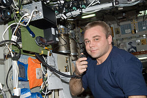 English: Russian cosmonaut Maxim Suraev, Exped...
