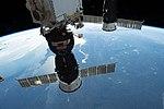 ISS-57 Soyuz MS-09 and Progress MS-09 docked to ISS above Ukraine.jpg