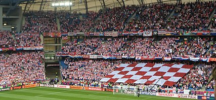 85145baa8 Croatia supporters at UEFA Euro 2012. Football is Croatia s most popular  team ...