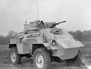 Humber Armoured Car - Mk II with redesigned glacis armour