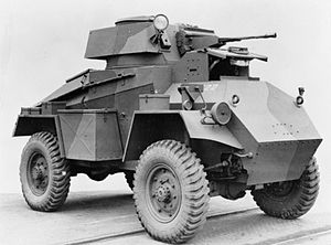 Humber Armoured Car - Mk I showing its similarity to the Guy Mk IA Armoured Car