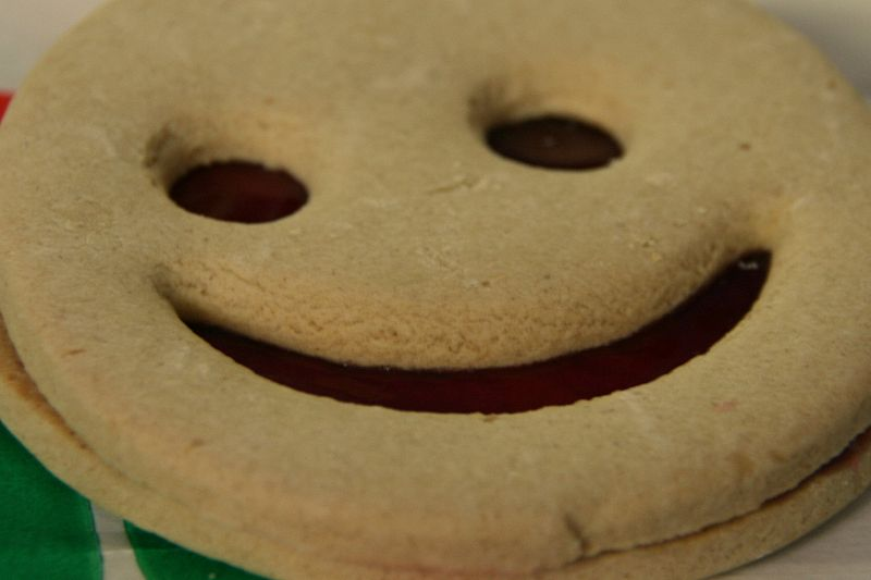 File:Ignorance is bliss - shortbread cookie with a smile.jpg