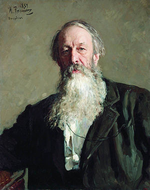 Manfred Symphony - Vladimir Stasov's portrait by Ilya Repin. Stasov initially wrote the program for Manfred for Hector Berlioz to use.
