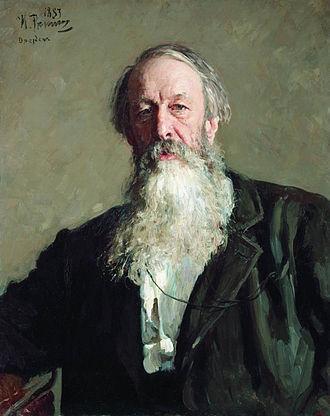 Vladimir Stasov - Vladimir Stasov's portrait  by Ilya Repin.