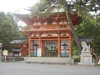 Imamiya Shrine - Imamiya Shrine's main gate
