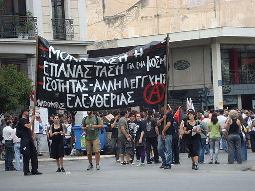 Demonstration in Patras (Griechenland) 2011