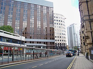 City of Leeds - Infirmary Street in Leeds Financial Quarter