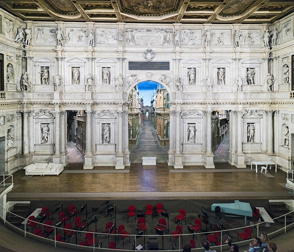 Teatro olimpico wikipedia - Giulio iacchetti interno italiano ...