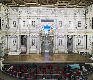 Teatro Olimpico theatre in Vicenza, Italy