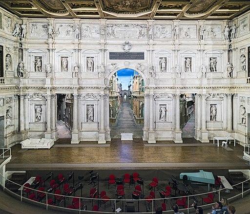 Interior of Teatro Olimpico (Vicenza) scena