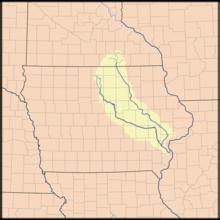 Iowa River Wikipedia - Iowa river map