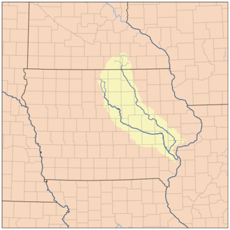 Iowa River - Image: Iowarivermap