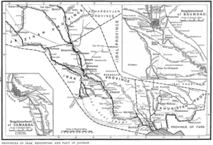 Nahrawan Canal - Map of Abbasid-era Iraq, with the Nahrawan Canal marked out