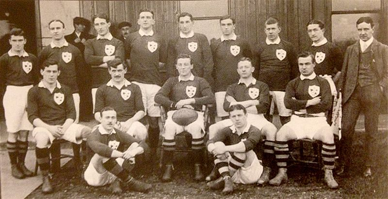 Ireland Rugby Team in 1909