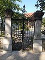 Iron gate. Huray villa, 1868. Listed. - 35 Jókai Street, Balatonfüred.JPG