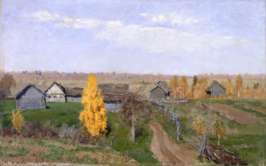 L'automne dorée (1889) de Isaac Levitan au musée d'art russe de Saint Petersbourg.