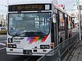 Isuzu Cubic, Alpico group bus at Matsumoto, Nagano.jpg