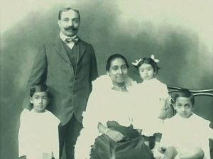 J. R. Jayewardene - J. R. with his parents and siblings.