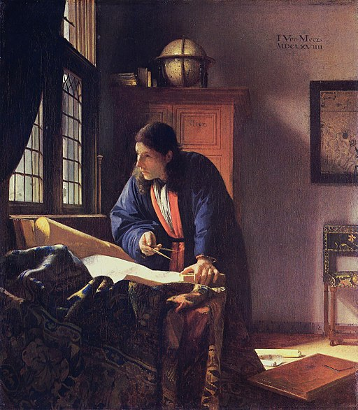 """The Geographer"" by Johannes Vermeer"