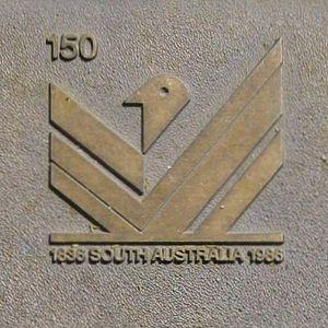 Jubilee 150 Walkway - The Jubilee 150 logo.
