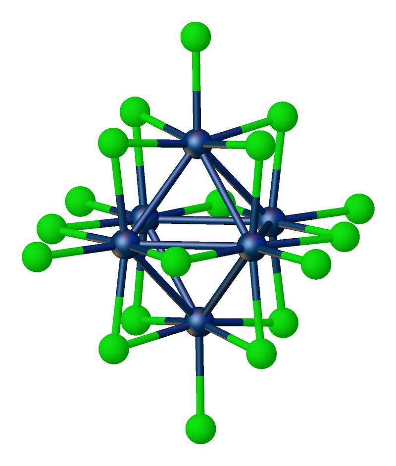 Struktur W6Cl18 (