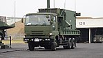 JASDF MIM-104 Patriot PAC-2 J MSQ-132 Engagement Control Station(Mitsubishi Fuso Super Great, 49-0312) left front view at Tsuiki Air Base November 26, 2017 01.jpg