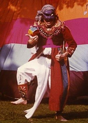 John Emigh - John Emigh in one-man topeng performance.
