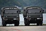JMSDF Type 73 ougata truck(40-8441 & 40-8442) at Maizuru Air Station May 18, 2019 01.jpg