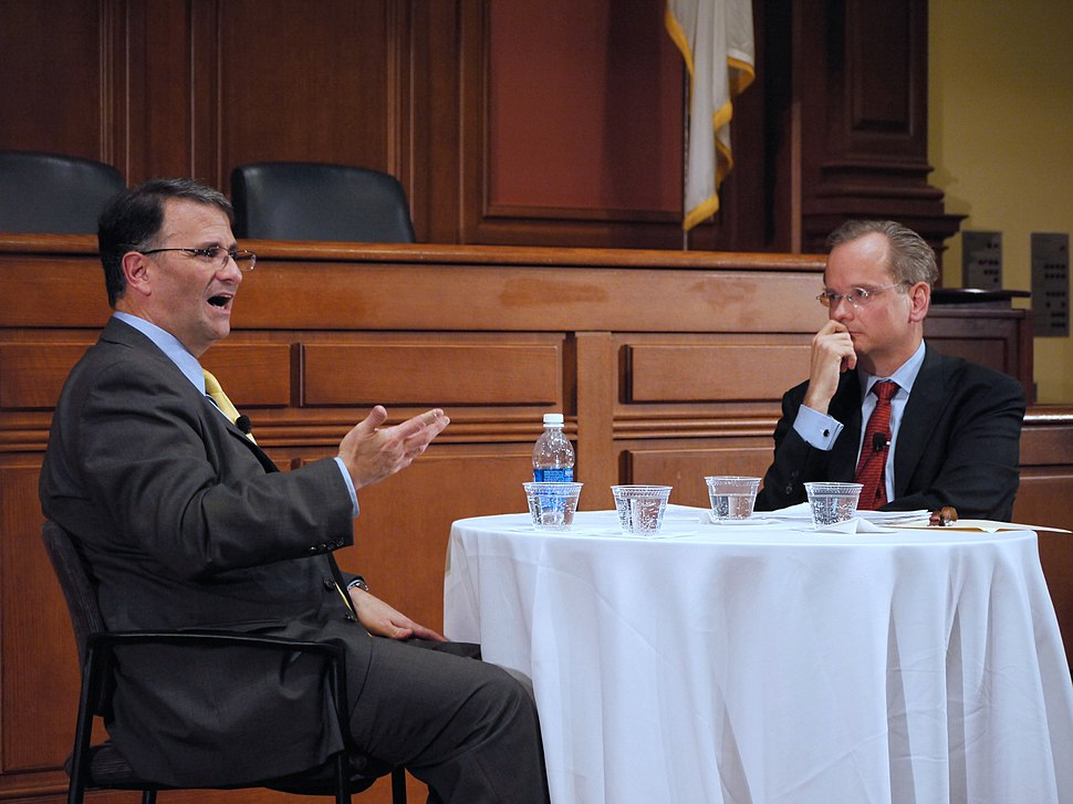 """Jack Abramoff and Lawrence Lessig at """"In the Dock"""" 2011 (2)"""