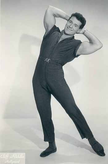 Publicity photo of fitness expert Jack LaLanne.