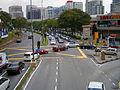 Jalan Kemajuan Subang facing NW, three-way intersection in front of Subang Parade, Subang Jaya, Malaysia (28 May 2014) (03).jpg