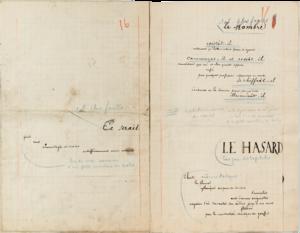 Un Coup de Dés Jamais N'Abolira Le Hasard (Mallarmé) - Autograph layout (1896).